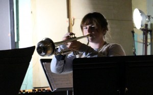Trumpeter Victoria Bethel performs From Afar, Drawing Near.