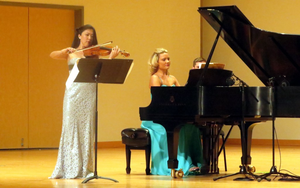 "Helen Hwaya Kim and Julie Coucheron perform Beethoven's ""Violin Sonata No. 1 in D major."""