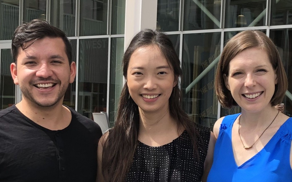 The Vocal Arts Atlanta team: (l-r) Jose Caballero, Chaowen Ting, Valerie Pool.