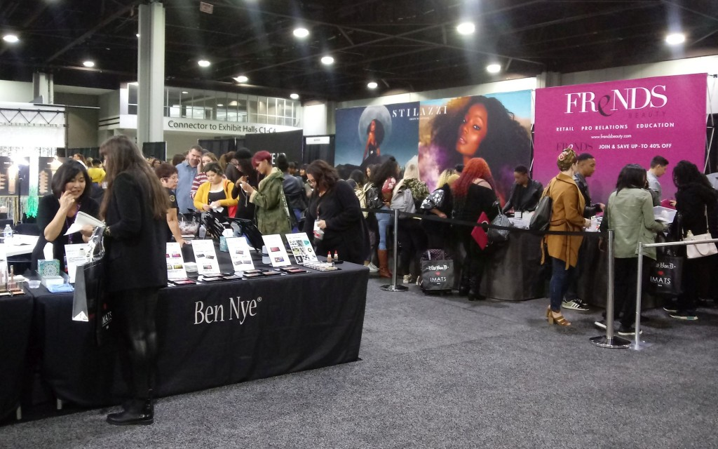 Attendees peruse exhibits at IMATS. (photo: Mark Gresham)
