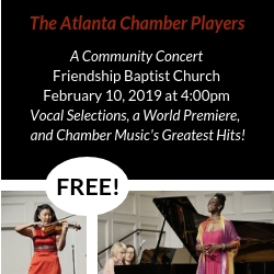 Atlanta Chamber Players Feb 10 2019 concert