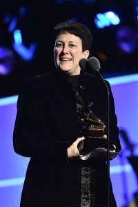Composer Jennifer Higdon accepts the Best Contemporary Classical Composition award for her Viola Concerto' at the 60th annual Grammy Awards ceremonies, January 28, 2018 in New York City. (credit: Theo Wargo/Getty Images)
