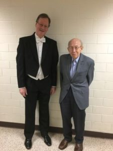 DSO music director Fyodor Cherniavsky with Charles Knox aft5er the concert. (Courtesy Rogers Digital Recording)