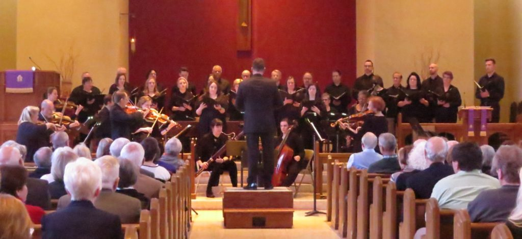 "Atlanta Baroque Orchestra and St. Philip Cathedral Schola perform ""Beatus vir"" by Vivaldi. (credit: Mark Gresham)"