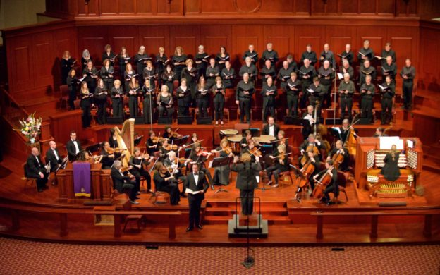 "Johns Creek Symphony Orchstra and Johns Creek Chorale perform Duruflé's ""Requiem."" (credit: ©Ben Weitz)"