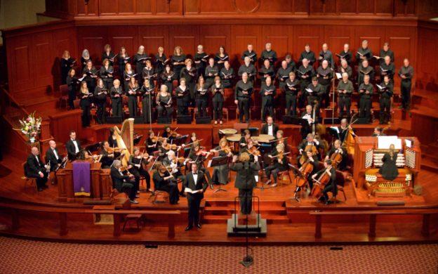 "Johns Creek Symphony Orchstra and Johns Creek Chorale perform Duruflé's ""Requiem."" (credit: ©Ben Weitz)"