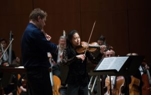David Couchron shares the encore spot with fellow ASO violinist Julianne Lee. (credit: Jeff Roffman)