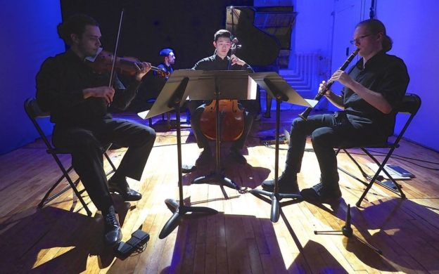 The NYC'-based Unheard-of//Ensmble performed at Kopleff Recital Hall on Friday.