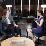 Jennifer Barlament, executive director of the Atlanta Symphony Orchestra, is interviewed by Gail O'Neill for Collective Knowledge. (credit: Felipe Barral)