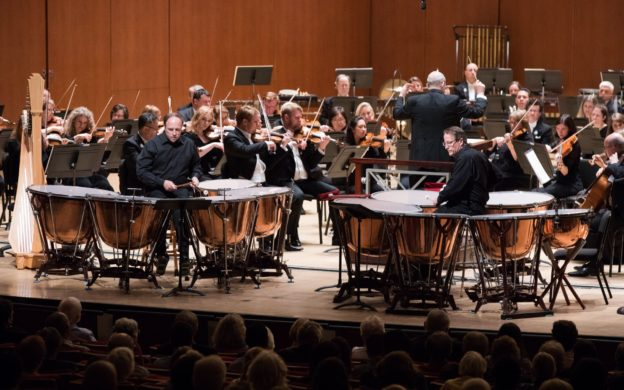 Brothers Mark and Paul Yancich are soloists for James Oliverio's DYNASTY: Double Timpani Concerto with the Atlanta Symphony Orchestra. (credit: Jeff Roffman)