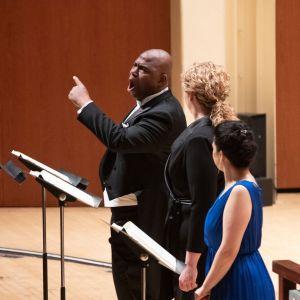 l-r: Bass Arthur Woodley, sopranos Christine Goerke and Laura Tatulescu. (credit: Jeff Roffman)