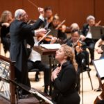 "Soprano Christine Goerke sings Leonore's passionate ""Abscheulicher"" aria with Robert Spano and the Atlanta Symphony Orchestra in Thursday's performance of Beethoven's ""Fidelio."" (Credit: Jeff Roffman)"