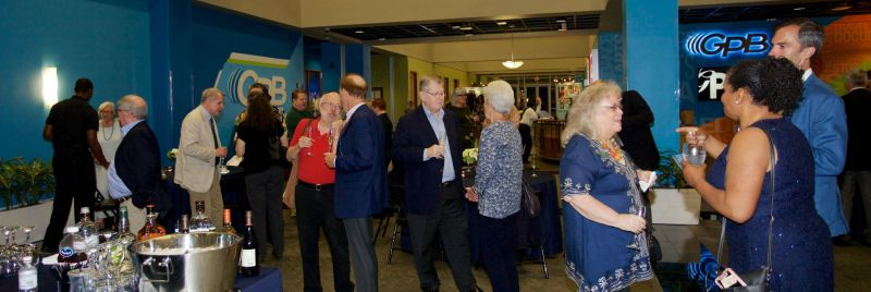 Gathering in the GPB lobby following the June 21 screening. (credit: Jinny Hawkins)