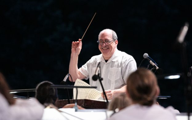 Robert Spano conducts the Atlanta Symphony Orchestra at Piedmont Park. (credit: Jeff Roffman)