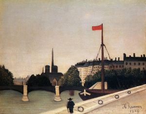 "Henri Rousseau:_""Notre_Dame"" (1909). [This image is in the public-domain.]"