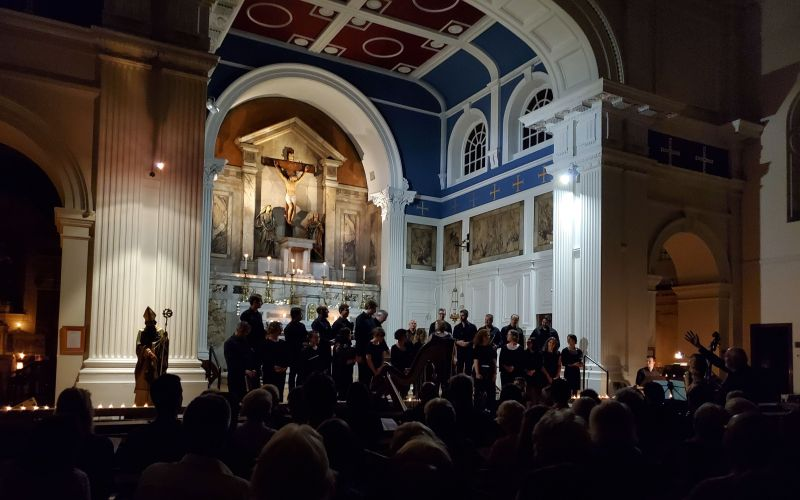 """The St. Andrew Camerata performs Faure's """"Requiem"""" at St. Patrick's Church. (photo: William Ford)"""