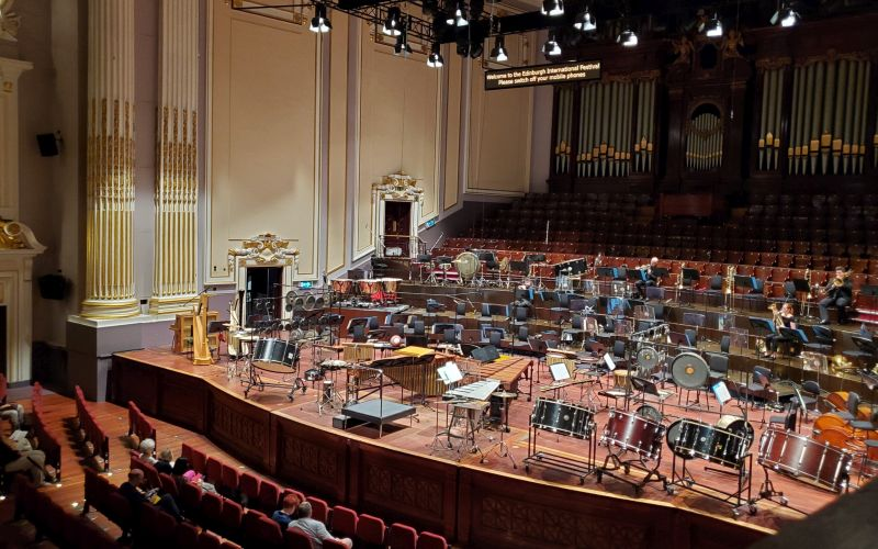 The interior of Usher Hall, pre-concert. (photo: William Ford)