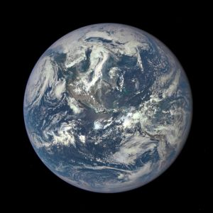 July 6, 2015: The EPIC camera on NASA's Deep Space Climate Observatory satellite took this photo of the entire sunlit side of Earth from one million miles away. It's a view of the western hemisphere.