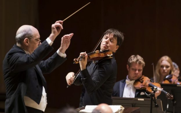 Opening night of the Atlanta Symphony Orchestra's 75th anniversary season. l-r: music director Robert Spano, violinist Joshua Bell. (credit: Rafterman Photography)
