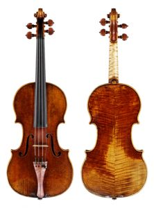 The Gibson ex-Huberman Stradivarius of 1713, front and back.