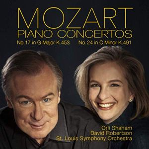 Mozart Piano Concertos K.453 and K.491 Orli Shaham, pianist St. Louis Symphony Orchestra; David Robertson, conductor Canary Classics, CC18 Release date: August 23,, 2019