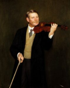 George Alfred Gibson with Stradivarius, in a portrait by Herbert Olivier, ca. 1899.