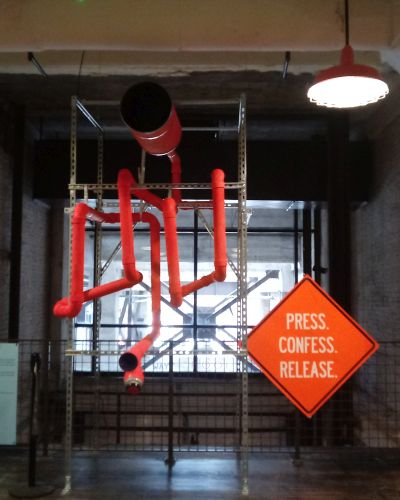 """""""Tubes (Echo)"""" -- one of a pair of installations by Unexpected Collective. (photo: Mark Gresham)"""