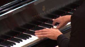 """Close video shot of Robert henry's hands during one of Rachmaninoff's """"Études-Tableaux."""" (spurce: video stream capture)"""