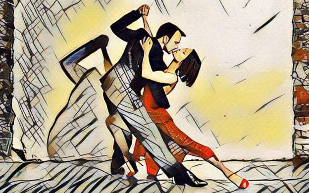 "Tango dancers Patricio Touceda & Eva Lucero perform with the Atlanta Symphony this Saturday in Astor Piazzolla's ""Cuatro Estaciones Porteñas"" (""The Four Seasons of Buenos Aires"") (Digital art based on a photo by Tracy Martin, Mark & Tracy Photography."