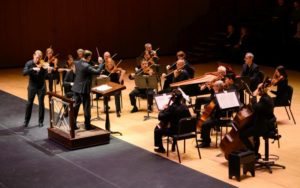 "Bruns, Mulligan and the ASO in Vivaldi's ""Le quattro stagioni"": small ensemble, very large stage."