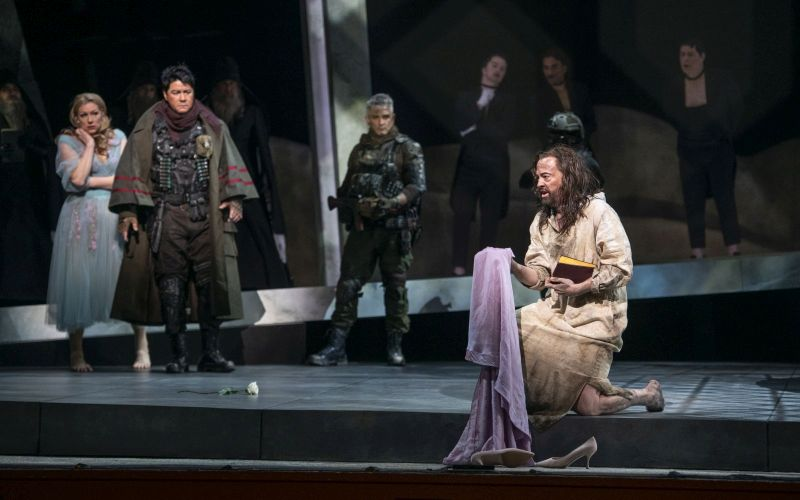 Jennifer Holloway as Salome, Adam Diegel as Narraboth and Nathan Berg as Jochanaan,