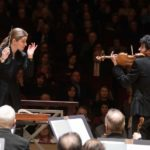 giest conductor Karina Canellakis, and vioinist Itamar Zorman tacle Alban Berg's complex Violin Concerto with the ASO. (credit: Jeff Roffman)