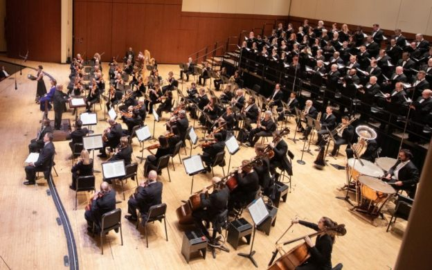 "Atlanta Symphony Orchestra and Chamber Chorus perform Ralph Vaughan Williams' ""Serenade to Music."" (credit: Jeff Roffman)"