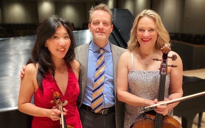 Summit Piano Trio: Helen Hwaya Kim, Robert Henry and Charae Krueger. (credit: Jordan Sommer)