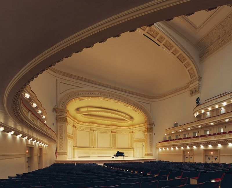 A very empty Stern Auditorium at Carnegie Hall. (source: Carnegie Hall Press Office)