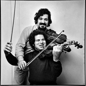 """The """"Grand Duo"""" of violinists Pinchas Zukerman and Itzhak Perlman at a much younger age."""