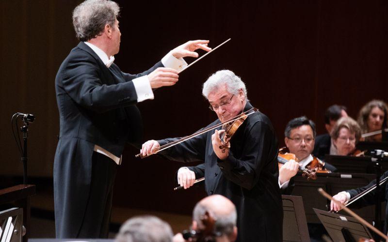 Conductor Yoel Levi, violinist Pinchas Zukerman. (credit: Jeff Roffman)