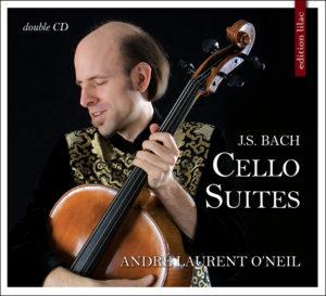 J. S. Bach Cello Suites, André Laurent O'Neil , baroque cello & violoncello piccolo Release date: March 28, 2020 Edition Lilac 200320 (2-CD set)