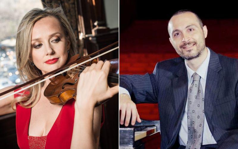 Violinist Solomiya Ivakhiv and pianist Antonio Pompa-Baldi , piano (photos courtesy of Classical Music Communications)