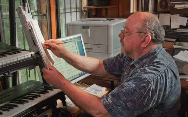 The composer at work: Curtis Bryant. (courtesy of curtisbryantmusic.com)