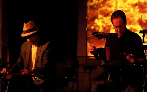 Frank Schultz (left) and Scott Burland are Duet for Theremin and Lap Steel. (source: dftals.bandcamp.com)