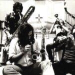 The Mark Harvey Group in 1971,, L-R: Bloom, Standish, Harvey, Ellis. (credit: Margot Niederland)