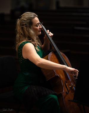 Charae Krueger, cello. (credit: Julia Dokter)
