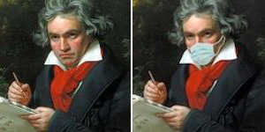 L; Beethoven in 2019. R: Beethoven in 2020.