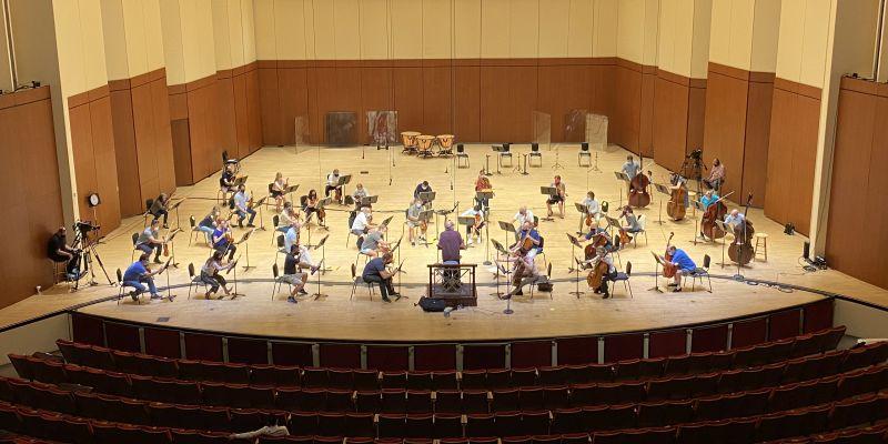 September 18 string section rehearsal, (source: ASO)