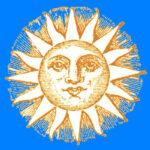 Sun in azure sky