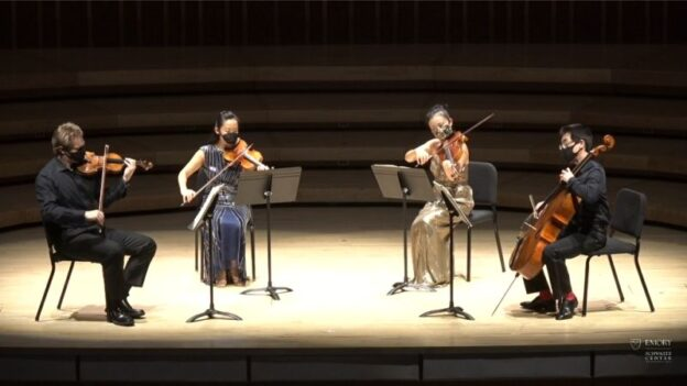 The Vega Quartet, Fall 2020 edition. (source: video frame capture)