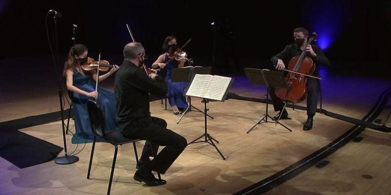 Peachtree String Quartet. (source: video frame capture / ASO)