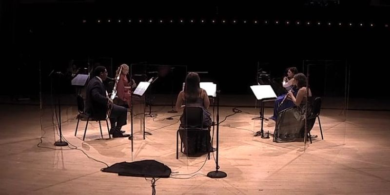 "A quintet of ASO principals plays Barber's ""Summer Music"" (source: video frame capture /ASO)"