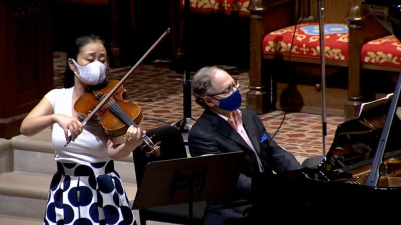 """Yinzi Kong and William Ransom perform the first movement of Schubert's """"Arpeggione"""" Sonata"""